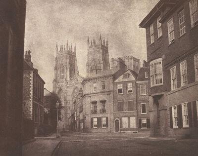 William Henry Fox Talbot, 'A Scene in York: York Minster from Lop Lane', 1845