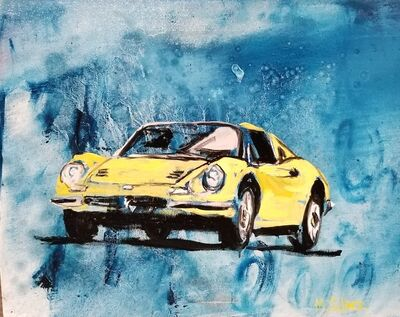 Mitchell Schorr, 'Yellow Ferrari', 2018