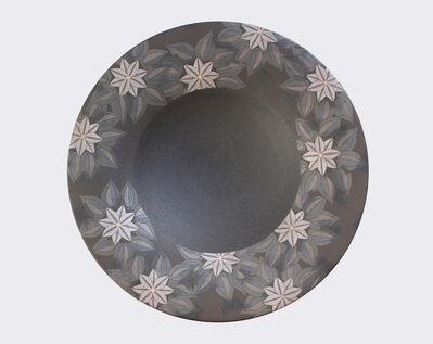 Koyama Koichi, 'Dish with clematis design', 2013