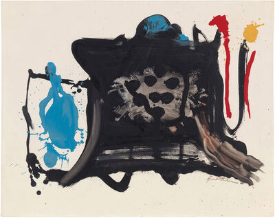 Helen Frankenthaler, 'Black Shapes on Black', 1961