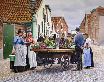 Rob van Assen, 'Buying flowers around 1900', ca. 2008