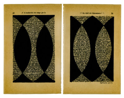 Oriane Stender, 'Untitled pages drawings (pages 56 & 57)', 2013