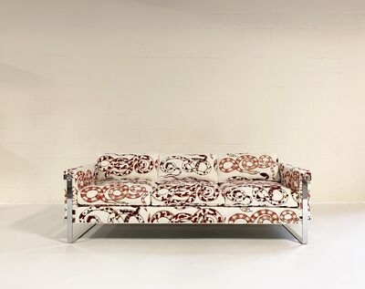 Milo Baughman, 'Chrome Sofa in Pierre Frey', mid 20th century