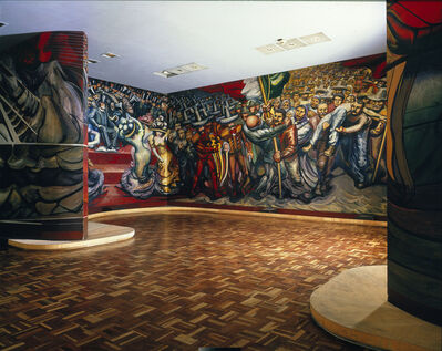 David Alfaro Siqueiros, 'Encounter of the armies. From Porfirianism to the Revolution (Dal Porfirismo a la Revolucion)', 1964
