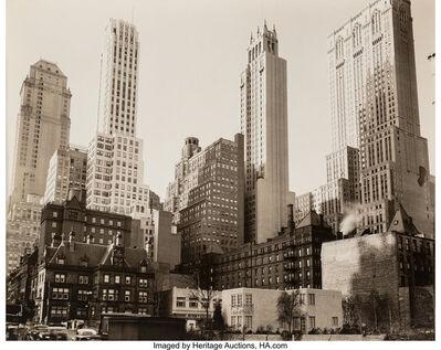 Berenice Abbott, 'Park Avenue and Thirty-Ninth Street, New York'
