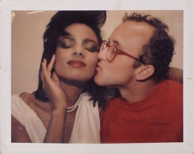Andy Warhol, 'Portrait of Keith Haring with model'