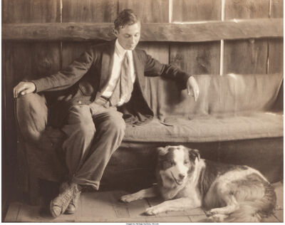 Margaret Watkins, 'Untitled, Man and Dog', 1917