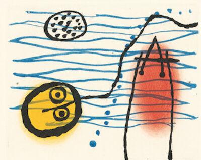 Joan Miró, 'Suite La Bague D'Aurore - plate 7', 1957
