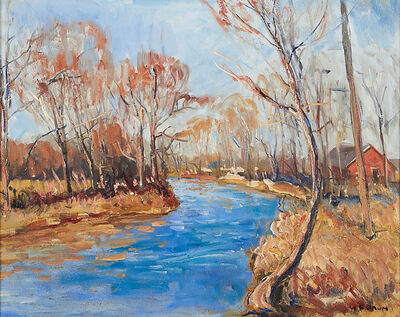 Walter Emerson Baum, 'Untitled (Brook, Early Winter)'