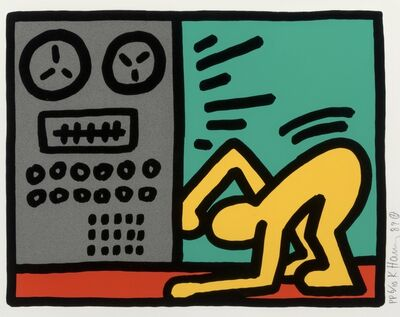 Keith Haring, 'Pop Shop III, (4)', 1989