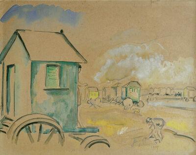 George Cyr, 'Baignade a Ostende', 1927