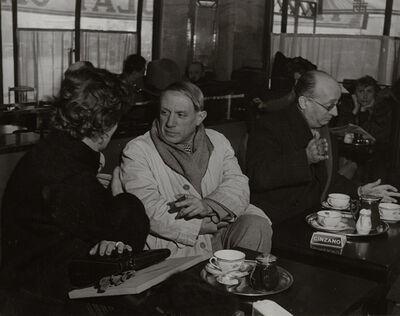 Brassaï, 'Picasso at the Café de Flore, Paris', 1939c/1960c