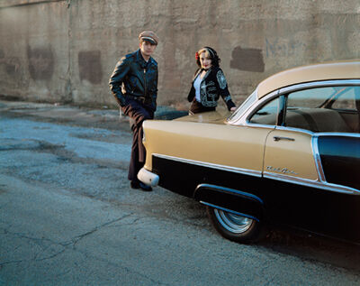 Jennifer Greenburg, 'Kikko and Jezabel with their '56 Chevy Bel Air, Chicago, Illinois', 2006
