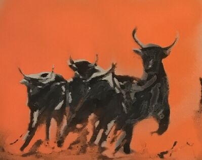 Famke Rousseau, 'Young Bulls', 2019