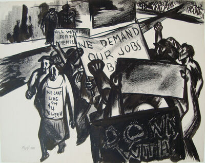 Seymour Fogel, '[We Demand Our Jobs]', 1933