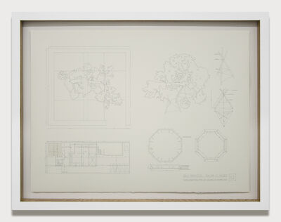 Edwin Monsalve, 'Planimetría sala proyectos ', 2014