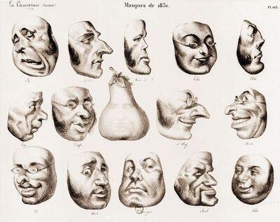Honoré Daumier, 'Masques', 1831