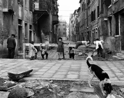 Elio Ciol, 'Giochi a Chioggia', 1961
