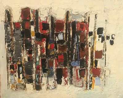 Paul Feiler, 'Red, Blue and Black', 1957
