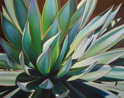 "Dyana Hesson, '""Plant in Full Sun, Agave Blue Glow""', 2018"