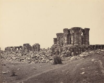 Samuel Bourne, 'Ruins of Martand from Southeast', ca. 1870