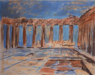 Louis Kahn, 'Interior, Parthenon, Acropolis, Athens, Greece', 1951