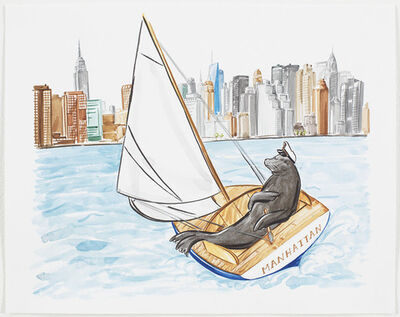 Hayley Sarno, 'Seal Sailing to New York '