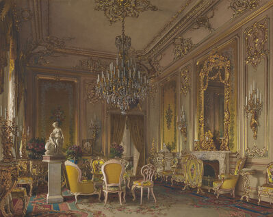 Luigi Premazzi, 'Mansion of Baron A.L. Stieglitz. The Drawing-Room', 1870 (?)