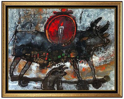 Theo Tobiasse, 'Theo Tobiasse Original Oil Painting Hand Signed French Modernism Animal Artwork', 1969