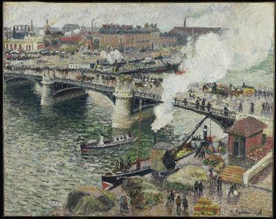 Camille Pissarro, 'Le pont Boieldieu à Rouen, temps mouillé', 1896
