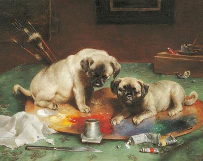 Carl Reichert, 'Budding Artists', 1893