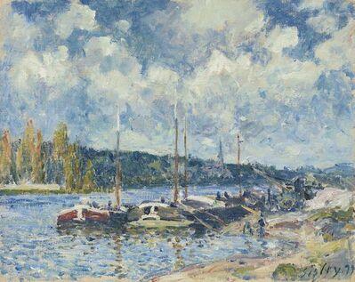 Alfred Sisley, 'La Seine à Bougival', 1877