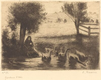 Camille Pissarro, 'Goose Girl (Gardeuse d'oies)', 1888