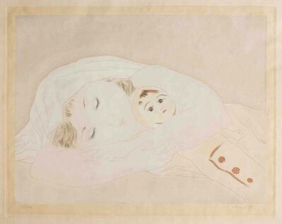 Léonard Tsugouharu Foujita, 'Child with a doll', ca. 1930