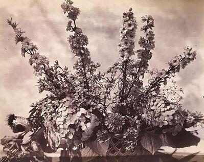 Charles Aubry, 'Flower Arrangement in a Basket', 1864c/1864c