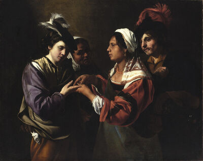 Bartolomeo Manfredi, 'The Fortune Teller', 1615-1620