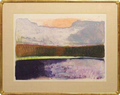 Wolf Kahn, 'Purple/Yellow/Orange/Grey Stripes II', 1992