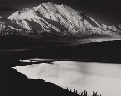 Ansel Adams, 'Mount McKinley and Wonder Lake, Mount McKinley National Park, Alaska', 1947