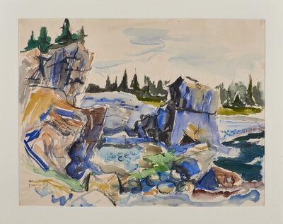 Werner Drewes, 'Blue Rocks on Desert Isld (Island)', 1953
