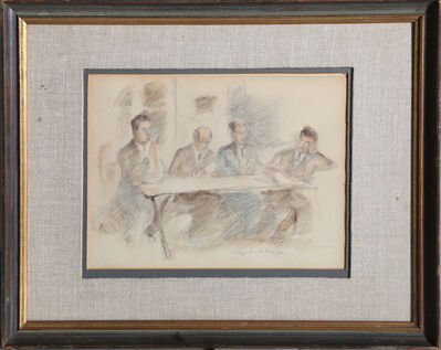 Raphael Soyer, 'Four Men', ca. 1930