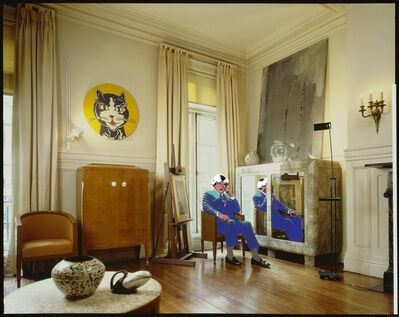 David Gamble, 'Andy Warhol's Living Room - Blue', 1987