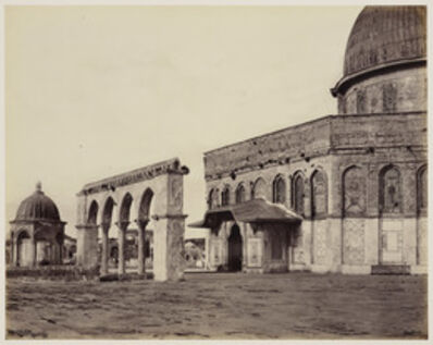 Francis Bedford, 'West Front of the Mosque of Omar [Dome of the Rock, Jerusalem]', 1 Apr 1862