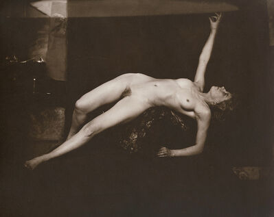 Anonymous Nudes, 'Undraped Reclining Female Nude Pointing Upwards', 1912c/1912c