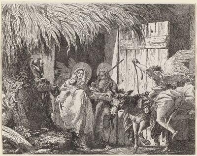 Giovanni Domenico Tiepolo, 'Joseph and Mary Prepare to Leave', published 1753