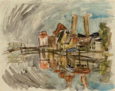 William Henry Johnson, 'Untitled (Harbor Scene, Kerteminde)', c. 1930-34