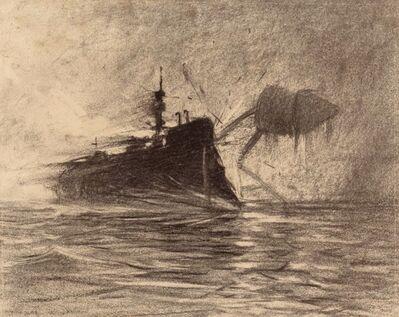 Henrique Alvim Correa, 'Thunderchild Versus Martian', 1906