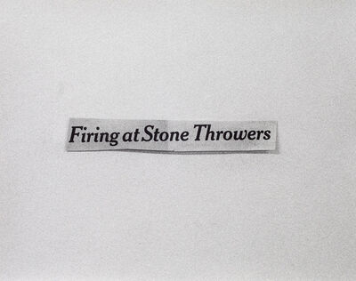 Luke Stettner, 'Firing at Stone Throwers', 2018