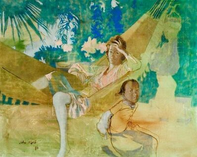 John Ward, 'Wenda Parkinson and her God-children, Tobago', 1986
