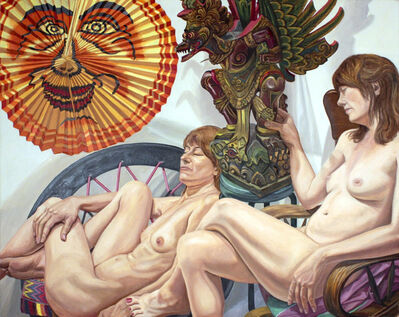 Philip Pearlstein, 'Models with Lantern and Garuda Figure', 2015