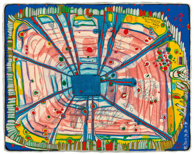Friedensreich Hundertwasser, 'Rain of blood is falling into the garden', 1972